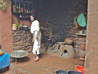 Moroccan woman in her home in the Atlas Mountains