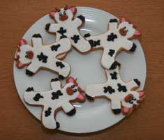 Cow-shaped biscuits for sale