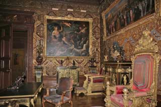 priceless paintings and ornate furniture