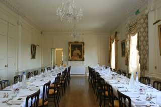 The Dining room set for our party