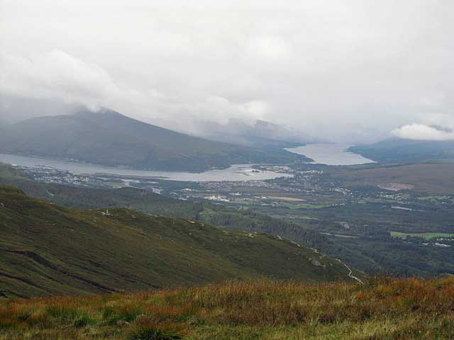 View from top of Aonach Mor