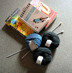 Books and knitting