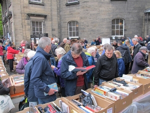 Christian Aid book sale - outside stalls