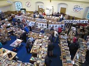 Christian Aid booksale -  inside church
