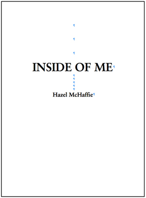 Inside of Me manuscript