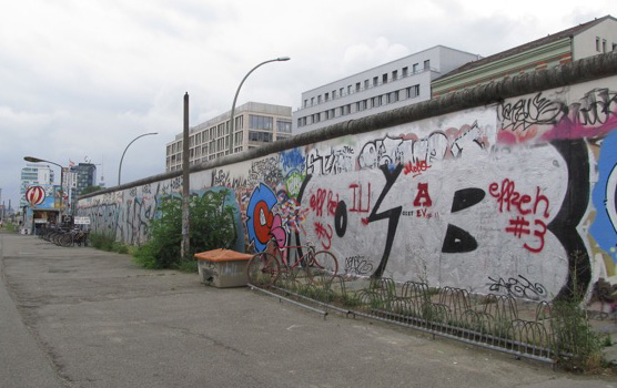 The remains of the Berlin Wall