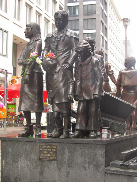 Monument to children who were taken to concentration camps or to places of safety