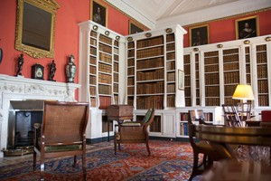 Main library at Belton House